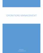 Operations Management Mannheim 2 Jahr