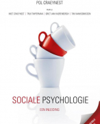 Samenvatting Sociale Psychologie